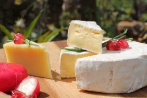 Camembert-Lebensmittel