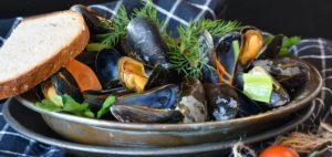 Muschel-Lebensmittel