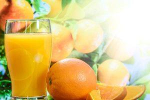 Orangensaft-Lebensmittel